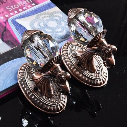 AIBOULLY 2 pièces/ensemble mode cristal rideau porte-crochets cintre Bronze présentoir mur crochet rideau décoration accessoires - 5