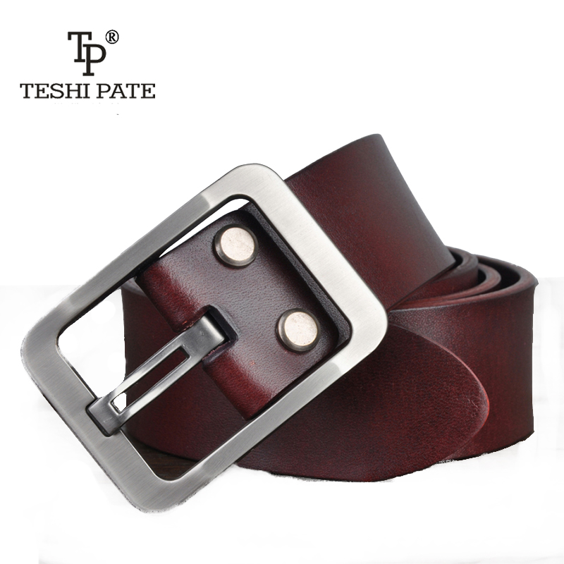 TESHI PATE TP 2018 Top cowhide hot style Italy imported real leather man belt leisure youth