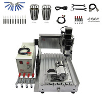 500W Mini CNC Router 3020 USB 4 Axis CNC Engraving Machine Ball Screw Limit Switch for Wood, Metal