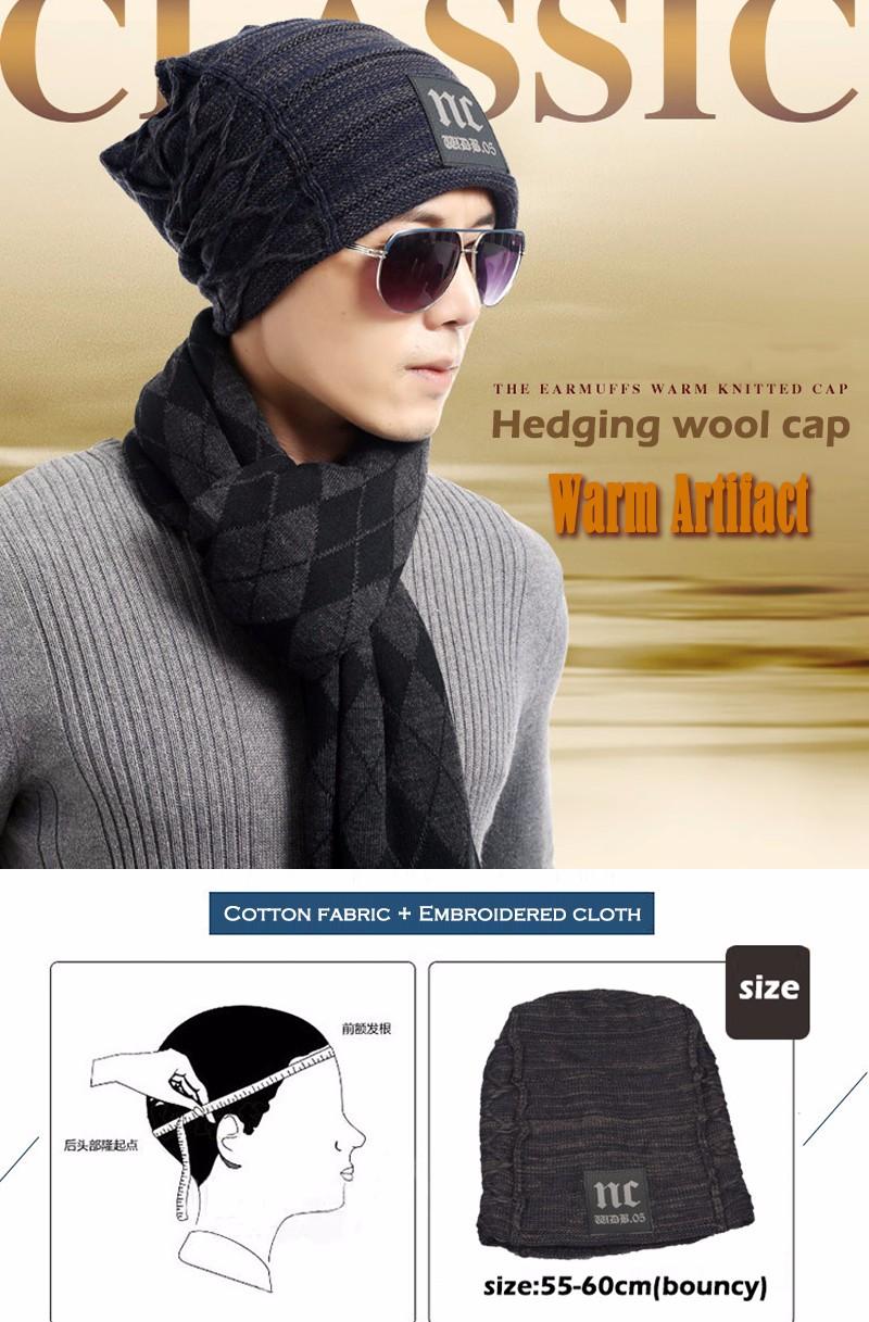 FETSBUY Brand Beanies Knit Men'S Winter Hat Caps Thick Skullies Bonnet Hats For Men Women Beanie Female Warm Baggy Knitted Hat 13