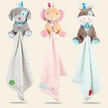 Детское комфортное полотенце, детское многофункциональное плюшевое одеяло для сна, мультяшное животное, овечка, слон