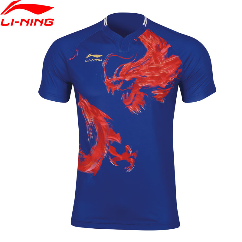Li-Ning Men Table Tennis T-shirt National Team Sponsor Breathable LiNing Competition Sports T-shirts Tops AAYP079 MTS3061(China)