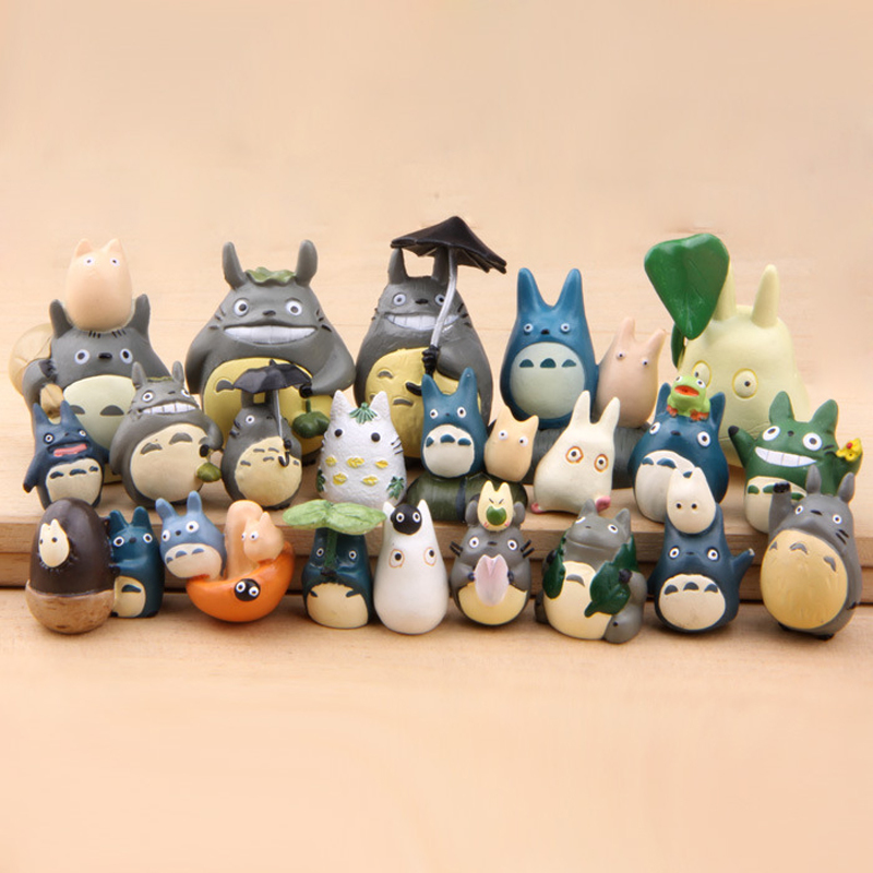 16 Style Kids Toys Totoro Figure DIY My Neighbor Totoro PVC Action Figure Collection Model Toy Micro Landscape for Children Gift street fighter v chun li bigboystoys with light action figure game toys pvc action figure collection model toys kids for gift