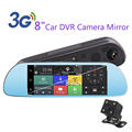 "8"" 3G Touch Special Car DVR Camera Mirror GPS Bluetooth 16GB Android 5.0 Dual Lens Full HD 1080p Video Recorder Dash Cam"