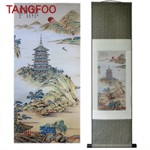 Silk brocade Painting Hangzhou Tapestry paint souvenir Ten Views of the West Lake picture silk craft home decor high quality