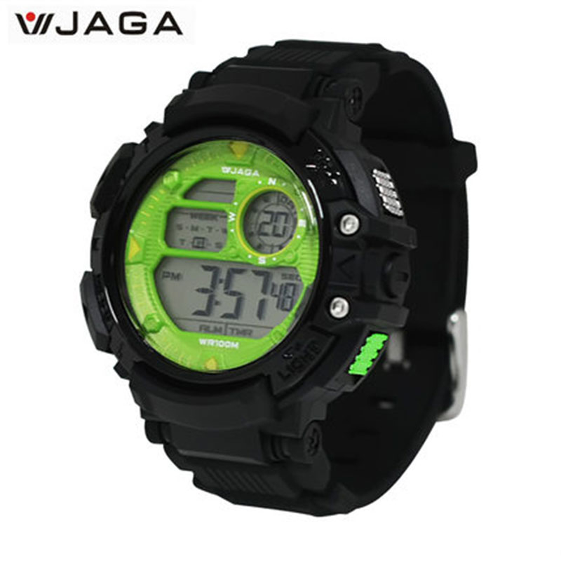 JAGA hommes montres de sport multifonction montres électroniques pour hommes montres imperméables Montre de plongée Montre Homme M1086