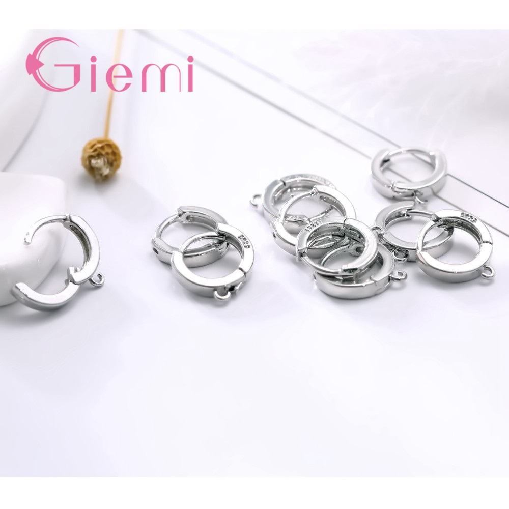 Big Discount Hot Selling Classical Style Genuine 925 Sterling Silver Hoop Earrings DIY Jewelry For Women Ladies Gift in Hoop Earrings from Jewelry Accessories