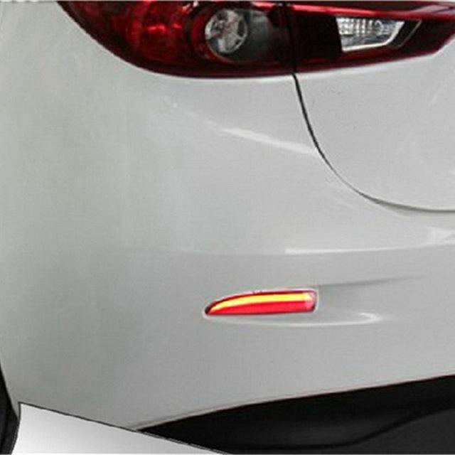 Julho Rei Car LED Luzes de Freio para Mazda 3 Axela 2013 ~ ON, Luzes à noite Correndo + Sinais de volta Luz + Luzes De Freio, 3 em 1