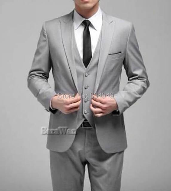 Online Shop CUSTOM MADE TO MEASURE MAN SUIT, BESPOKE Light Grey ...