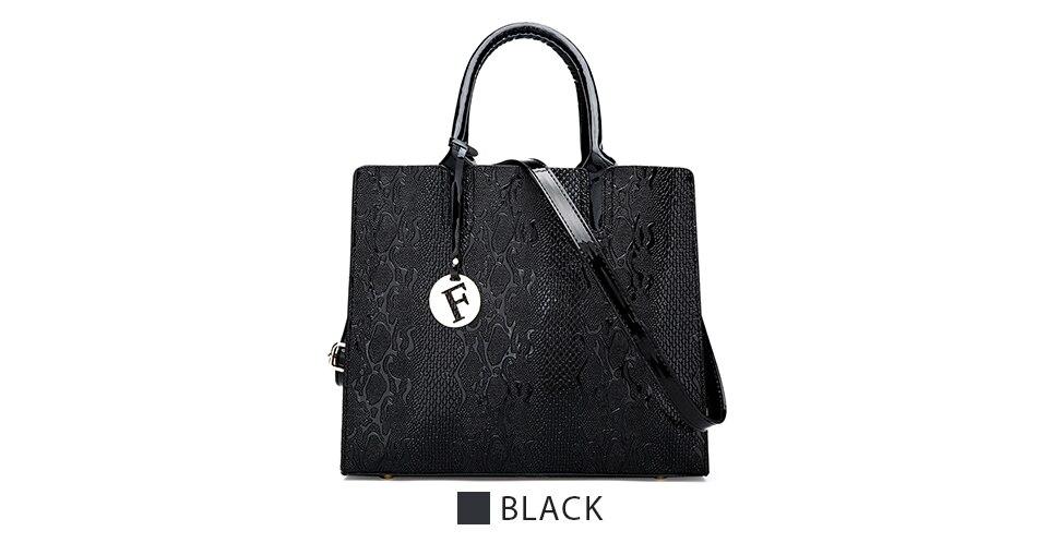 RANYUE Serpentine Women Leather Handbags Luxury Snake Women Shoulder ... 2aadf86d479f0