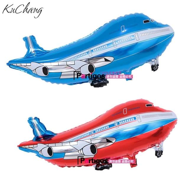 50pcslot Kids inflatable toys planes foil helium plane balloons