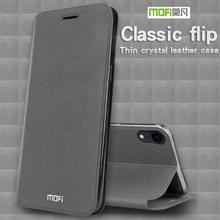 MOFI آيفون XS ماكس/XR حافظة فاخرة غطاء الوجه بولي PU جلد سيليكون قضية الهاتف آيفون XS غطاء آيفون 10 صدمات