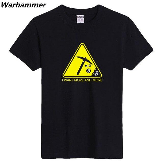 Summer top tees short sleeve T-shirt O- neck cotton pattern  printed  BITCOIN S-XXL 10 colors man's top tees super sportwear