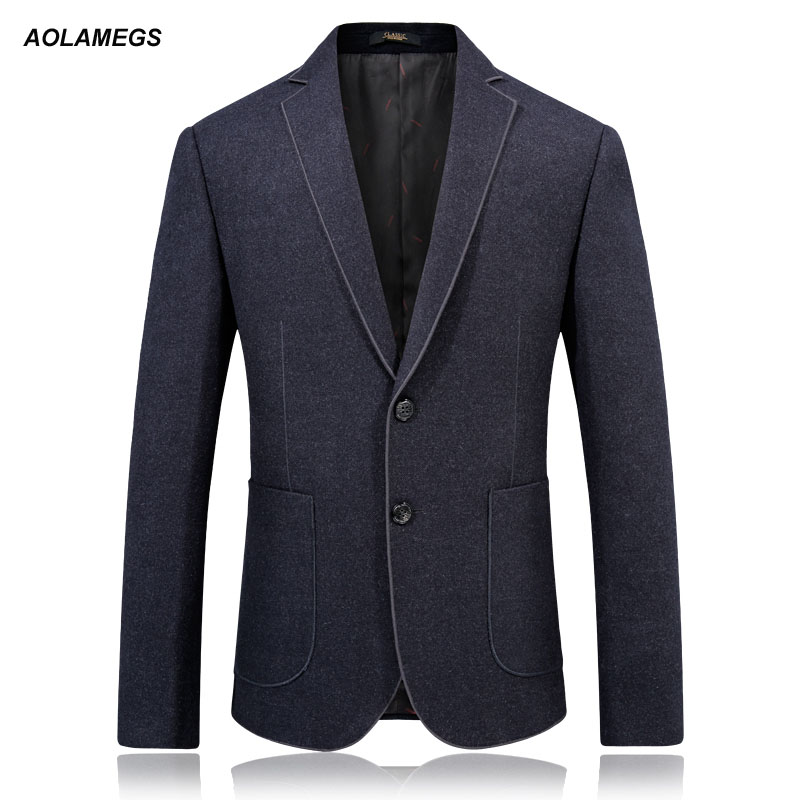 Aolamegs Men Blazer Jacket Fashion Classic Mens Casual Dress Blazer Suit High Quality Autumn Winter Slim Fit Solid Color Suits new aconfishing brands pe supper strong braided fishing line 300m 0 10mm 0 55mm spectra sea fishing 6lb 80lb braid wires