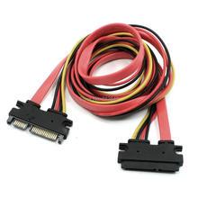 SATA 7 + 15 22 Pin SATA мужчин и женщин M/F данных Мощность кабель передачи 0,5-1 м