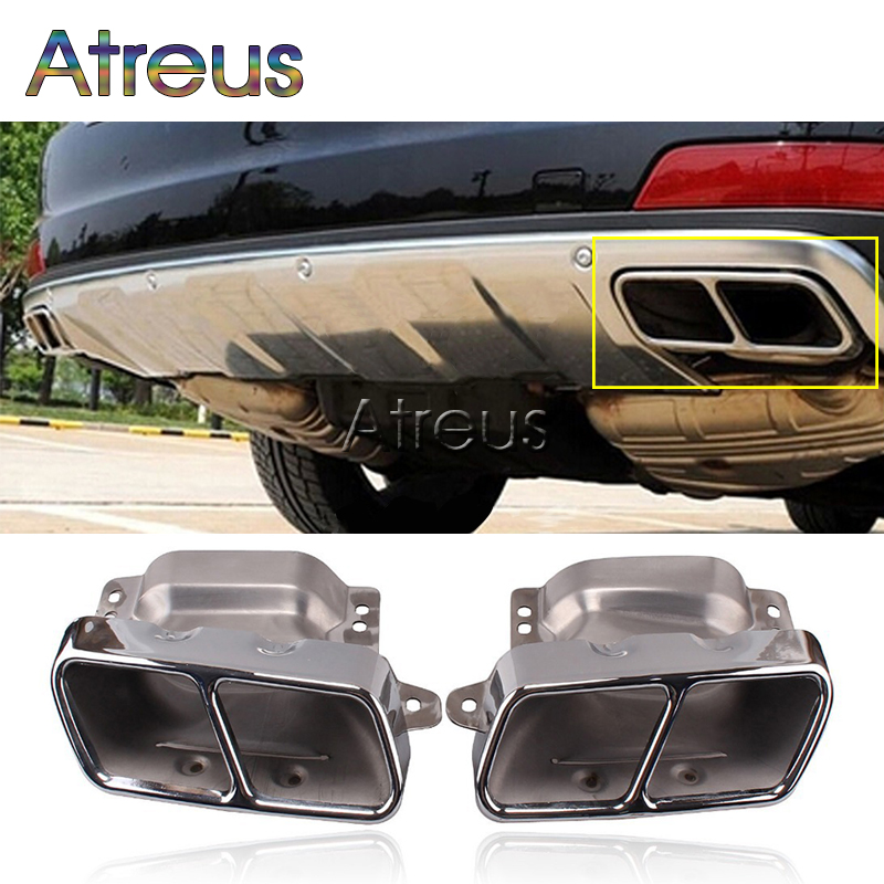 High Quality Stainless steel car exhaust pipe muffler tip for Mercedes benz S-class W222 2014 2015 Accessories 1pair car accessorise brand stainless steel hole rear exhaust pipe tip muffler for mercedes benz w221 w164 amg 2005 2013