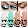Cosméticos de maquillaje de ojos 4 brillo de pigmento de color tierra maquillaje paleta de 4 colores de sombra de ojos multi-purpose opcional enviar un puff