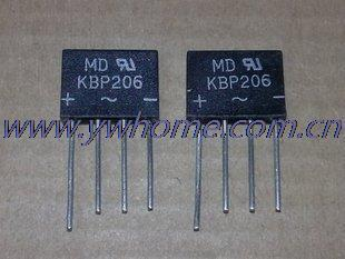 Nuevo de 5 X KBP206 206 2A 600 V rectificador de puente