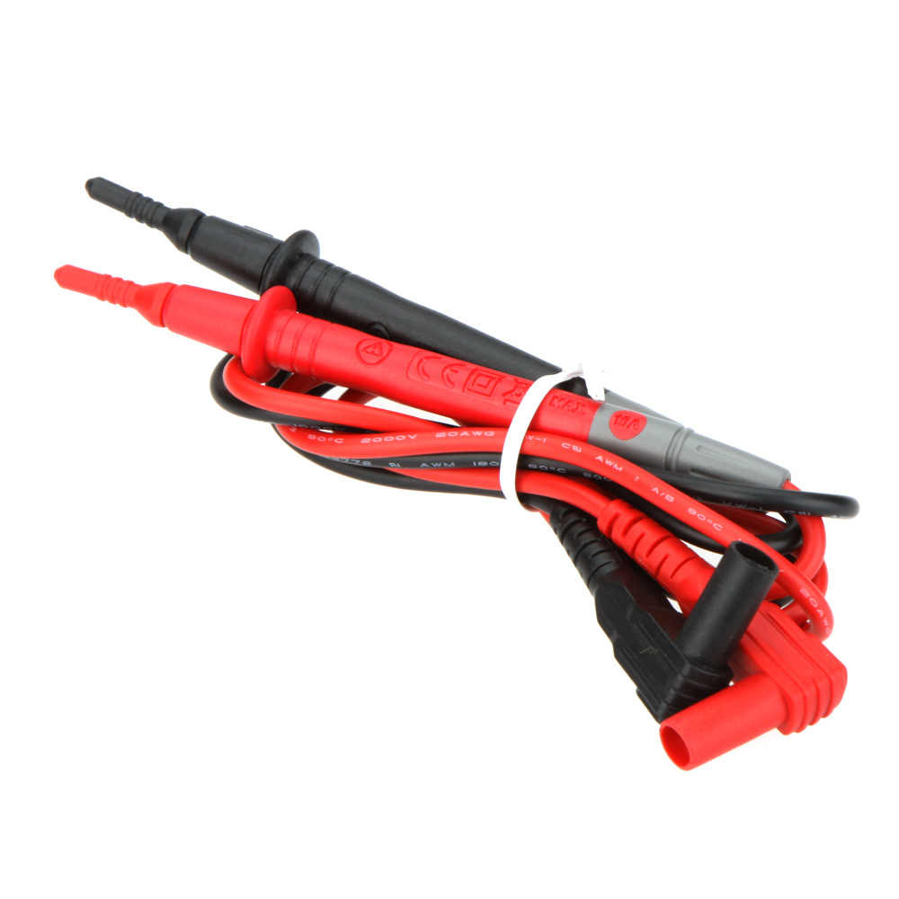 Baru Probe untuk DMM Digital Multimeter Clamp Meter Probe Pin Pena Uji Lead 10A Tes Probe Tip dengan Aman Perisai BANANA Plug