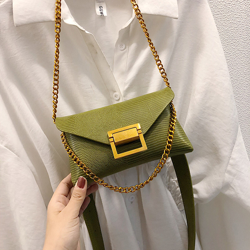2019 Spring New Arrival Fashion Women's Waist Bags PU Chain Belt Bag Ladies Chest Bags Handy Fanny Pack Girl Solid Shoulder Bag