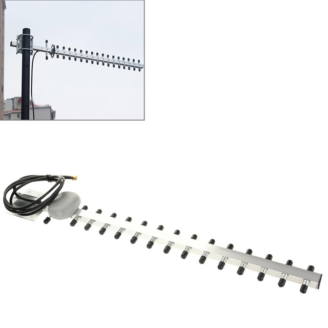 Nueva Alta Ganancia WiFi Antena 15 unidad Yagi Antena 18dbI N-hembra Plug 2G 3G 1710-2170 mhz Antena Yagi al aire libre para el Refuerzo repetidor