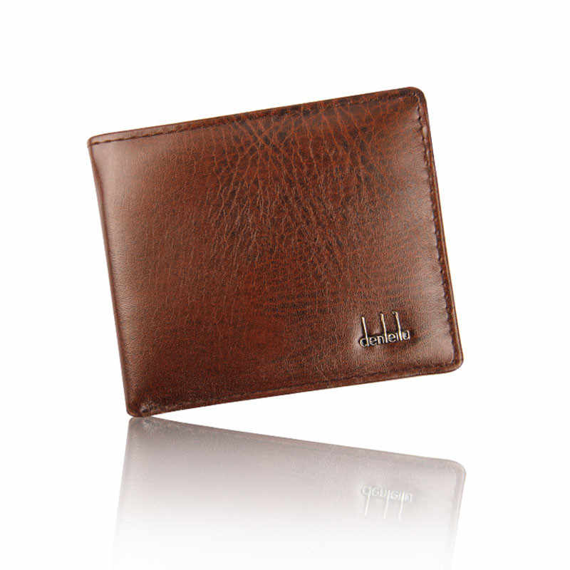 Homens Carteira de Couro Bifold Negócios ID Titular do Cartão de Crédito Bolsos Bolsa Pequena Carteira Titular do Cartão de Crédito Mini Bolsa Da Bolsa