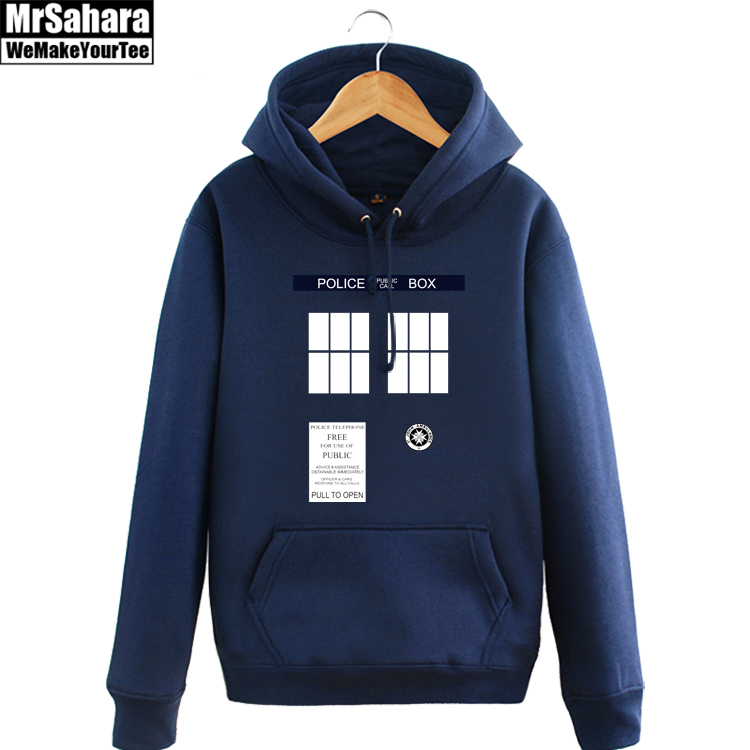 Adult Winter Autumn DOCTOR WHO POLICE BOX TARDIS Hoodie Sweatshirts For Men Women
