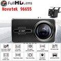 Original Novatek 96655 Full HD 1920x1080 P Câmera Do Carro DVR Recorder Caixa preta Lente de 170 Graus 6G Ceia Night Vision Traço Cam