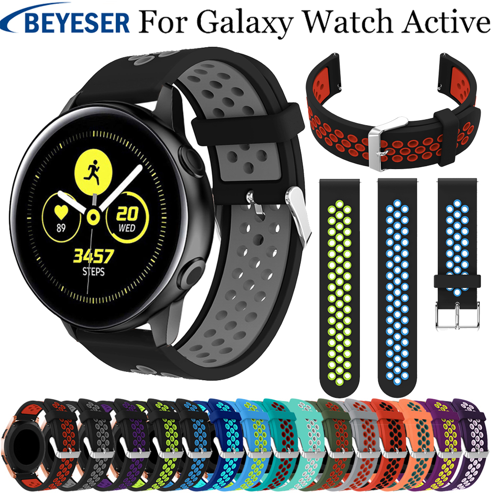 Soft Silicone Watchband For Samsung Galaxy Watch Active Classic Replacement Bracelet Watch Belt 20mm Strap Gear S2/Sport Straps