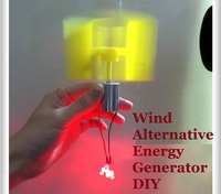 2PCS Miniature Vertical Axis Wind Alternative Energy Generator DIY Technology Making Physical Power Principle