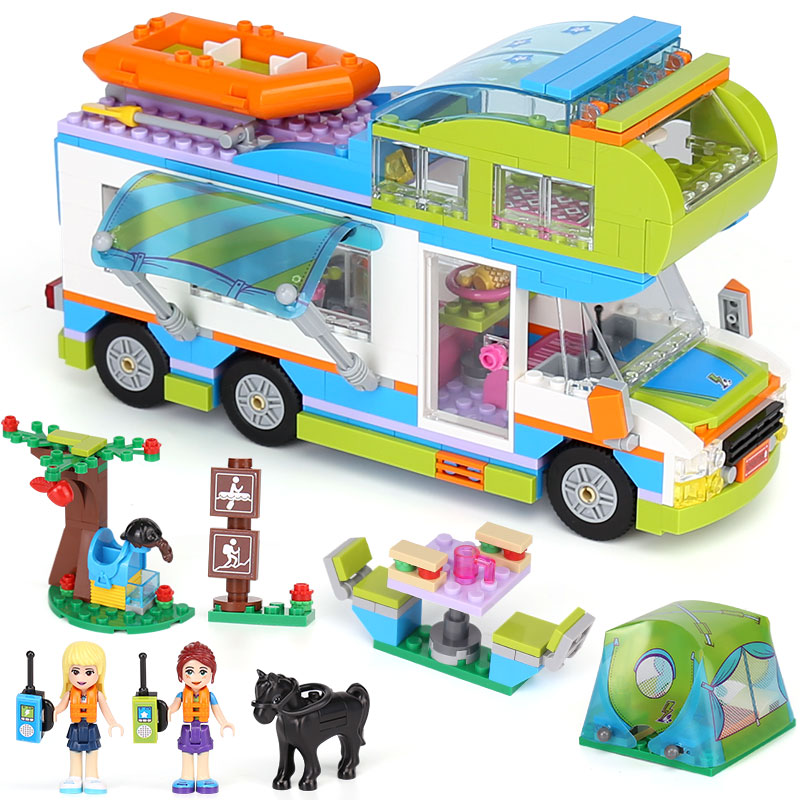 new Lepin 01062 Girls Series Mia's Camper Van Building Compatible With lego Friends Blocks Bricks Funny Birthday Gifts 546 Pcs цена