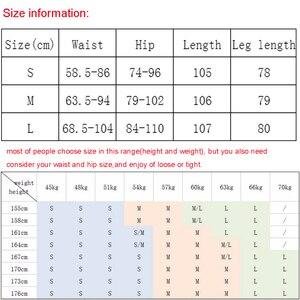 Image 5 - Pantalones de cuero de gamuza para mujer, pantalón ajustado, elástico, de cintura alta, estilo retro, Otoño Invierno, 2019