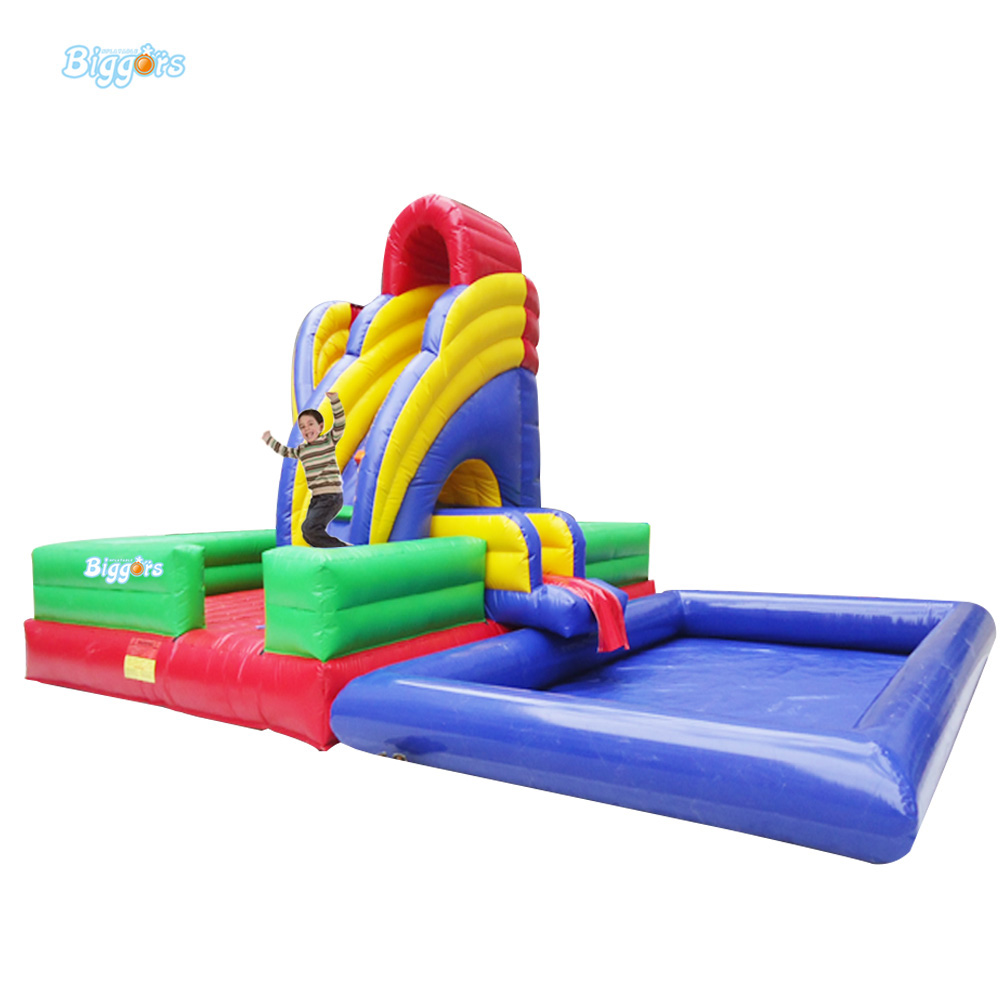 Inflatable Biggors Inflatable Slide With Pool For Kids And Adults For Sale цена