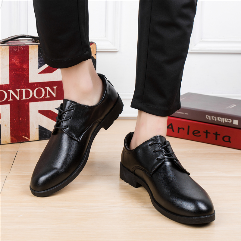 Mazefeng 2018 New Fashion Spring Autumn Men Leather Shoes Men Dress Shoes Lace-up Male Business Shoes British Style Pointed Toe new 2017 men business formal dress shoes oxford men leather shoes lace up pointed toe british style men shoes brown black