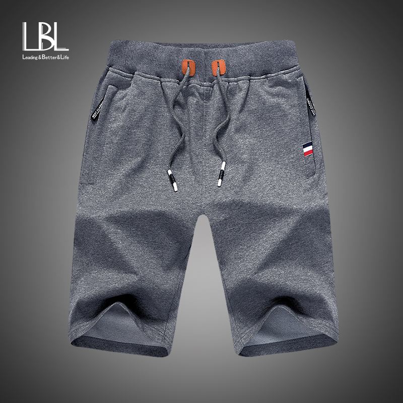 2019 Solid Men's Shorts 4XL Summer Mens Beach Shorts Cotton Casual Male Shorts Fashion Brand Bermuda Homme Short Pantalon Court