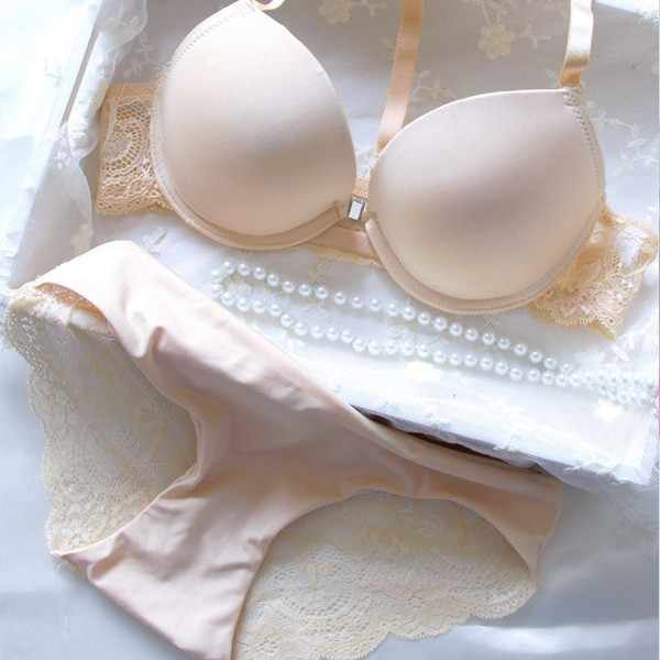 20b707ad79 EFINNY Women RACERBACK 3 4 Cup Front Closure Underwire Push Up Bra Set 32 34