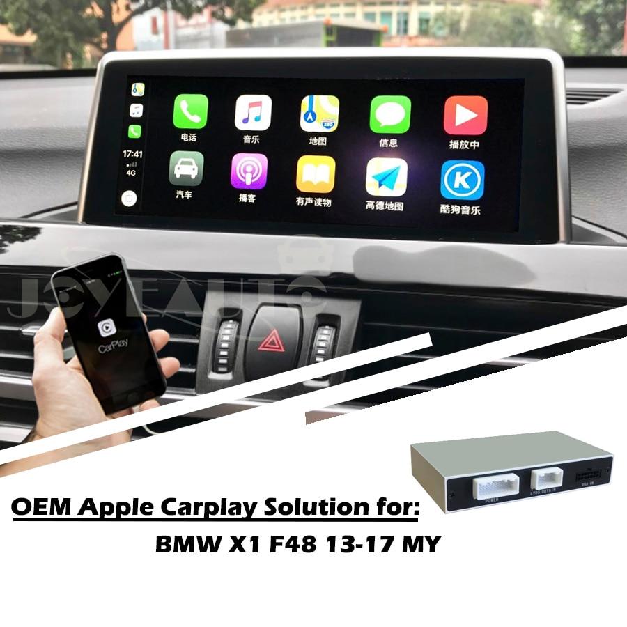 US $326 21 10% OFF|Aftermarket Full Apple Carplay Screen X1 F48 NBT 2013  2017 MY Android Auto Solution Retrofit Reversing Camera -in Car Multimedia