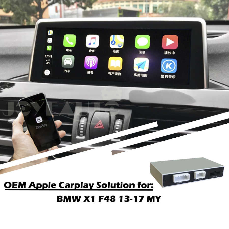 Aftermarket Full Apple Carplay Screen X1 F48 NBT 2013-2017 MY Android Auto  Solution Retrofit Reversing Camera