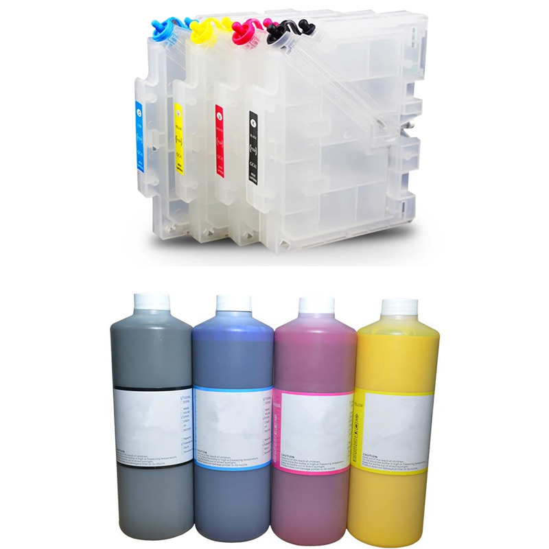 GC41 refillable ink cartridge + 500MLX4 color Sublimation Ink for Ricoh SG2100N SG3100 SG3100SNW SG3110DNW SG3110DN Printer