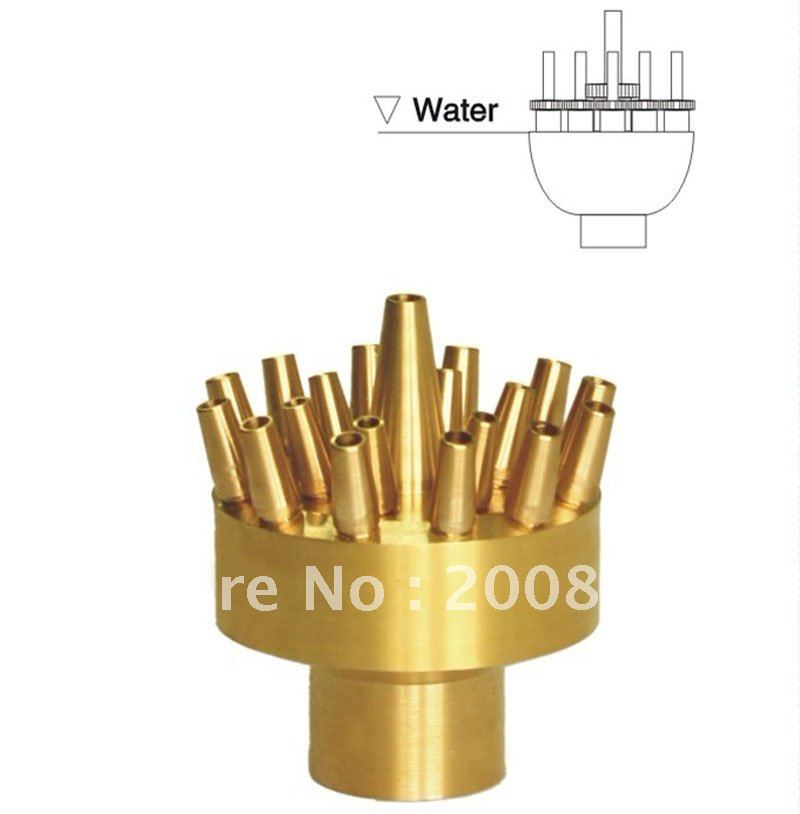 "1 1/2""  Non-adjustable three layer fountain nozzle  /  outdoor fountains for sale"