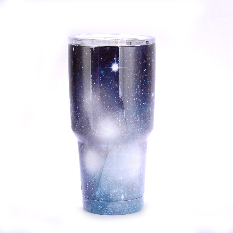 30 oz Glitter Stainless Steel Tumbler Cup Double walled vacuum coffee mug Keep drinks hot cold in Mugs from Home Garden