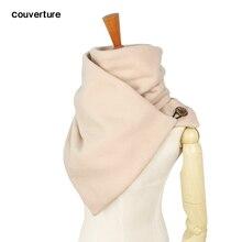 Шарф с капюшоном, шейный теплый шарф-хомут для женщин и мужчин, зимние модные шарфы и снуды с капюшоном, петля для пуговицы, кувертюр