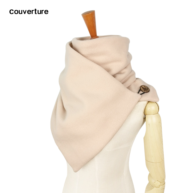 Lenço com capuz pescoço mais quente capuz cachecol feminino inverno moda cachecóis e snoods com capuz botão de loop por couverture design echarpe