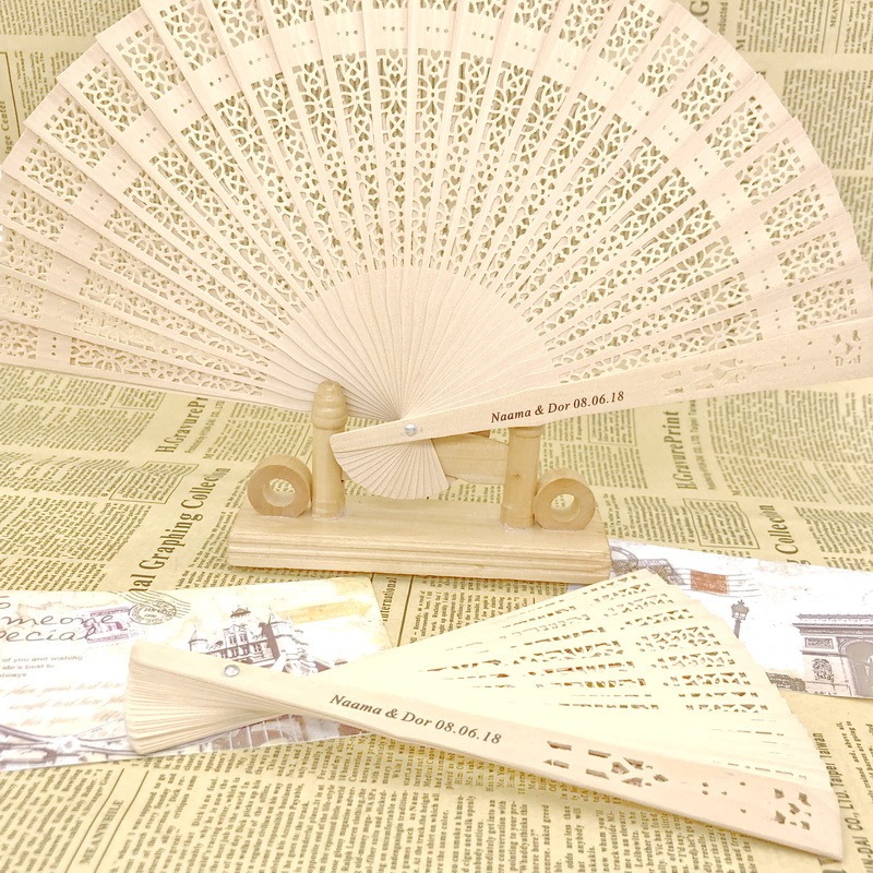60pcs lot FREE SHIPPING Laser Cut Scandal Wood Fans Party Favors Birthday Gifts Wedding Giveaways