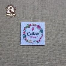 70 Custom Name Tags,  Wood grain, starfish, Organic Cotton Labels,iron on, Custom Clothing Labels(TB57)