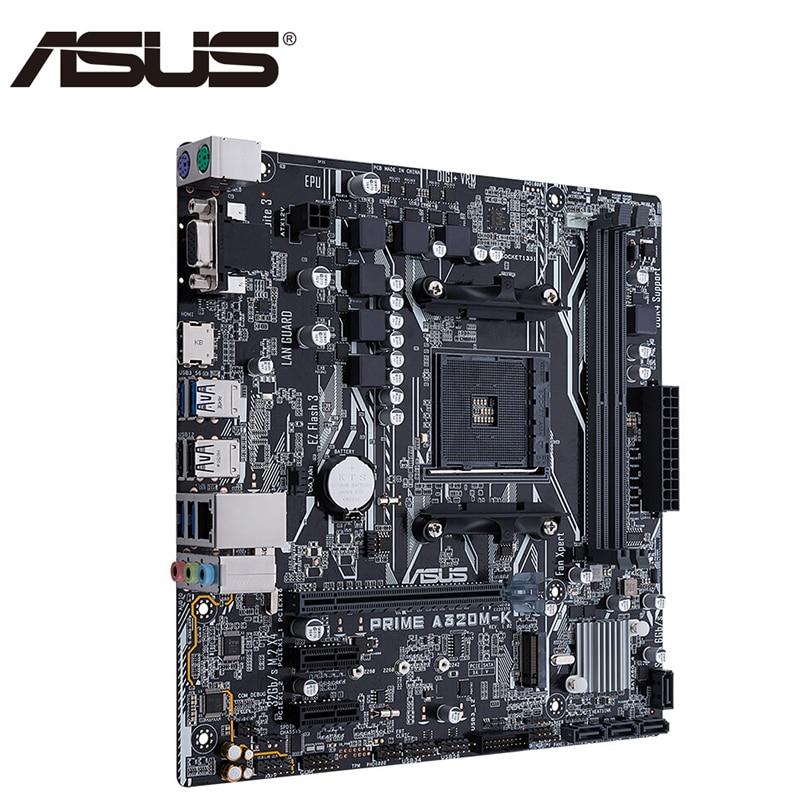ASUS PRIME A320M-K AMD Ryzen For Socket AM4 DDR4 32G HDMI VGA M.2 USB3.1 SATA3.0 PCI-E 16X Micro ATX Desktop Motherboard