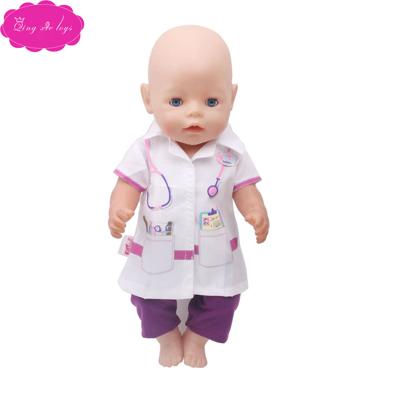 Dolls & Stuffed Toys Toys & Hobbies Cheap Sale Wholesale 43 Cm Dolls Clothes Doctor Surgical Suit Nurse Cosplay Dress Fit 43 Cm Baby Dolls And 18 Inch Girl Doll F266