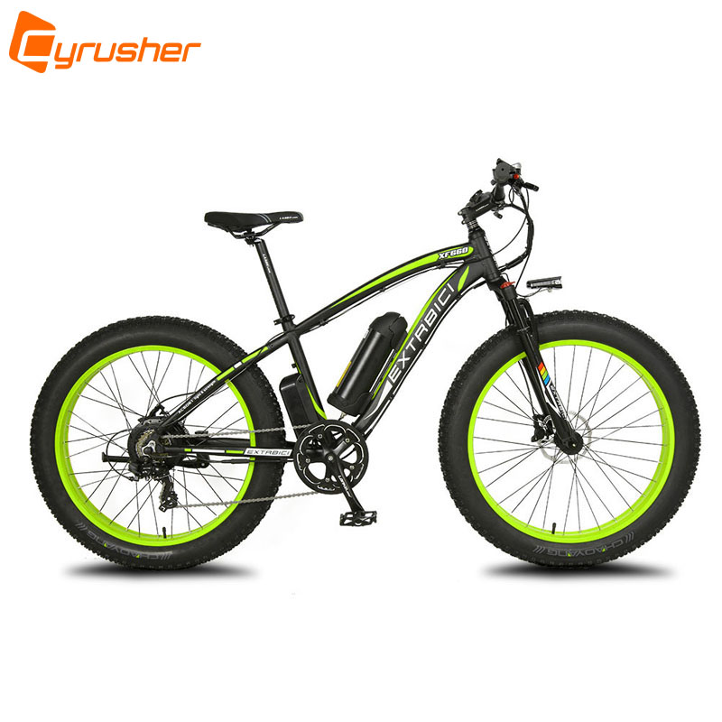 cyrusher green black xf660 fat tire mans electric bike. Black Bedroom Furniture Sets. Home Design Ideas