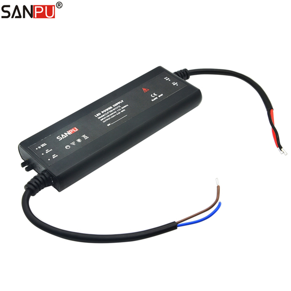 SANPU <font><b>12</b></font> Volt Slim <font><b>Power</b></font> <font><b>Supply</b></font> Unit IP67 Waterproof Plastic 100W 8 <font><b>Amp</b></font> Constant Voltage <font><b>12V</b></font> LED Strip Driver AC-DC CLP100-W1V12 image