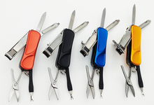 COG Mini Fashion Keyring Swiss Knife Nail Clippers Tweezers Scissors Cuticle Pusher Multifunction Portable Hand Tools swiss pattern thin hooked tweezers bst 6a
